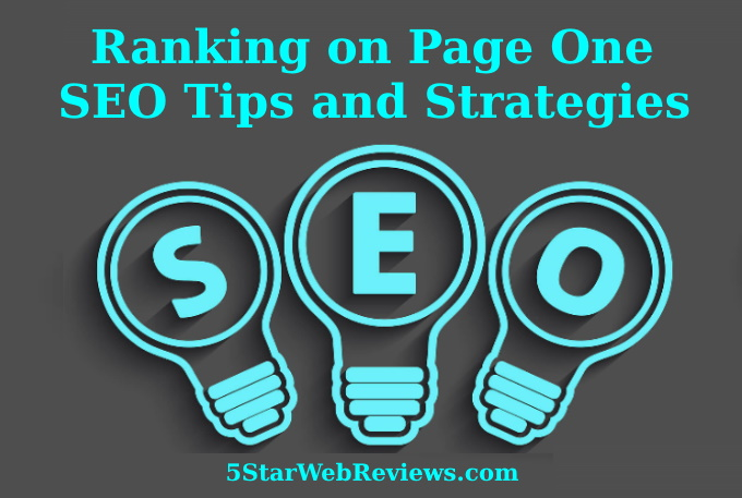 Ranking on Page One: SEO Tips and Strategies